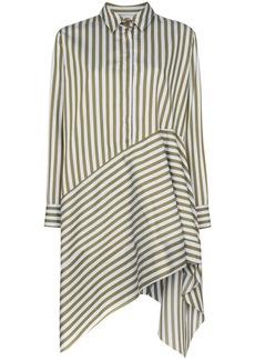 Marques' Almeida asymmetric stripe shirt dress