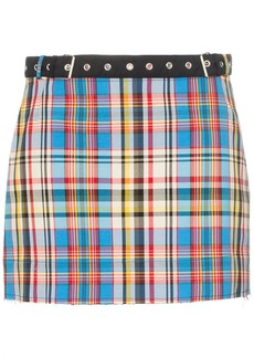 Marques' Almeida belted check mini skirt