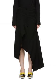 Marques' Almeida Black Draped Skirt