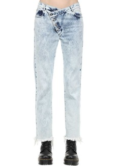 Marques' Almeida Cotton Denim Jeans W/ Overlapping Waist