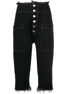 Marques' Almeida cropped fitted trousers