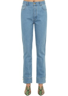 Marques' Almeida Cuffed Cotton Denim Jeans