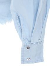 Marques' Almeida Cutout Denim Shirt W / Knot Detail