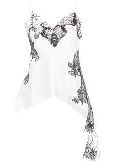 Marques' Almeida draped lace-panel cami top