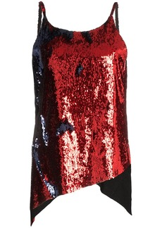 Marques' Almeida dropped hem sequinned slip top