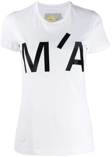 Marques' Almeida embroidered logo crew-neck T-shirt
