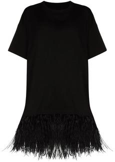 Marques' Almeida feather-trim oversized T-shirt