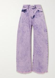 Marques' Almeida Frayed Acid-wash Boyfriend Jeans