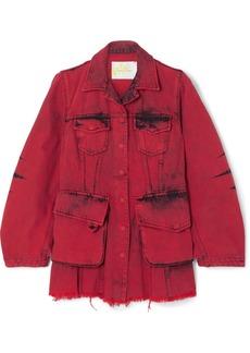 Marques' Almeida Frayed Acid-wash Denim Jacket