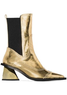 Marques' Almeida Gold 65 metallic Western-style leather boots