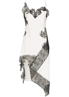 Marques' Almeida lace-trimmed slip dress