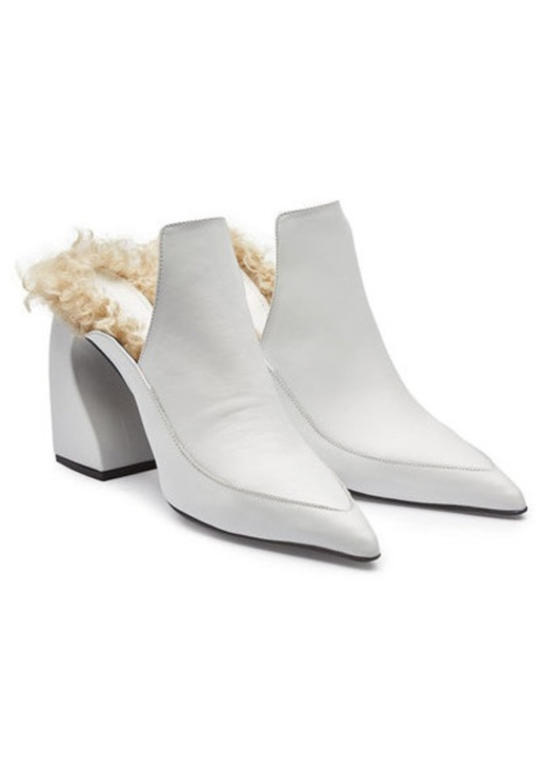 Marques' Almeida Leather Mules with Shearling