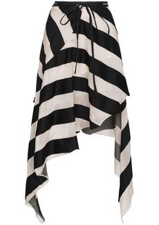 Marques' Almeida Maled Asymmetric Stripe Skirt