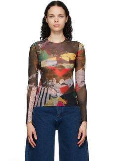 Marques' Almeida Marques Almeida Multicolor Mesh Long Sleeve T-Shirt