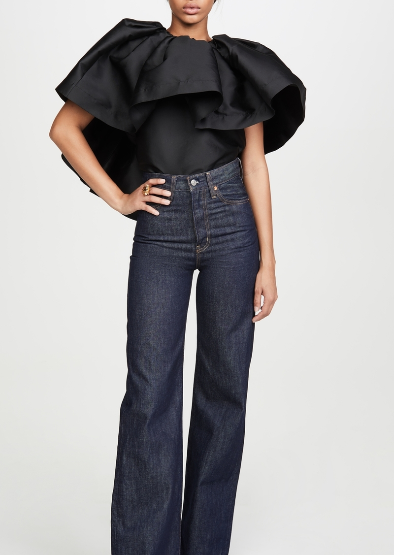 Marques Almeida Pleated Cape Top