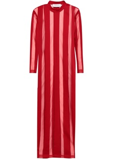 Marques' Almeida Woman Burnout Cotton-blend Jersey Maxi Dress Red