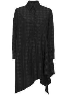 Marques' Almeida Marques'almeida Asymmetric checked shirt dress - Black