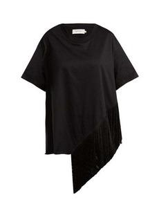 Marques' Almeida Marques'Almeida Asymmetric fringed cotton T-shirt