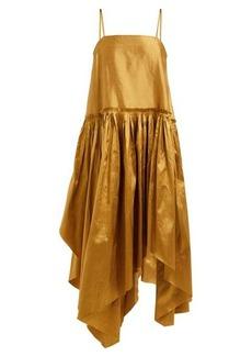 Marques' Almeida Marques'Almeida Asymmetric-hem silk-taffeta dress