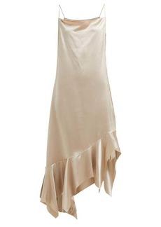 Marques' Almeida Marques'Almeida Asymmetric silk-charmeuse midi dress