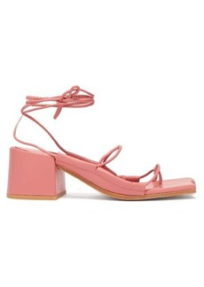 Marques' Almeida Marques'Almeida Asymmetric-toe wrap-around leather sandals