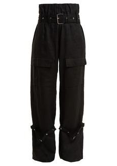 Marques' Almeida Marques'Almeida Belted linen cargo trousers