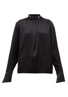 Marques' Almeida Marques'Almeida Buckled-neck silk-charmeuse blouse