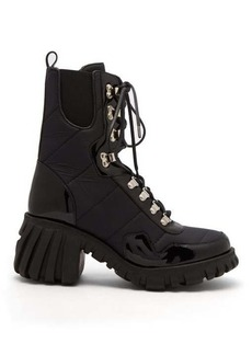 Marques' Almeida Marques'Almeida Chunky-sole quilted leather-trimmed boots