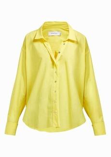 Marques' Almeida Marques'Almeida Cuff-ring twisted-placket cotton-poplin shirt