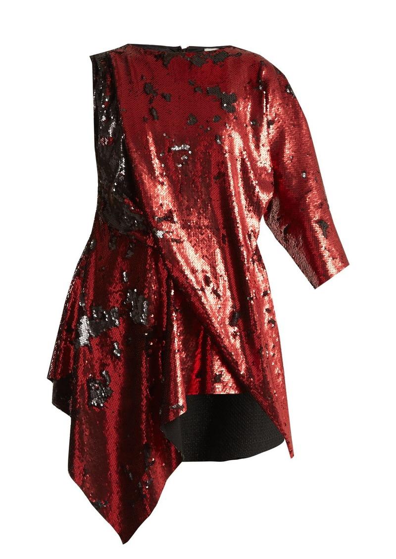Marques' Almeida Marques'Almeida Draped sequin dress