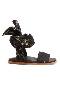 Marques' Almeida Marques'Almeida Floral-embroidered wrap sandals