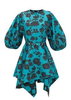 Marques' Almeida Marques'Almeida Floral-jacquard asymmetric belted mini dress