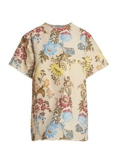 Marques' Almeida Marques'Almeida Floral-jacquard T-shirt dress