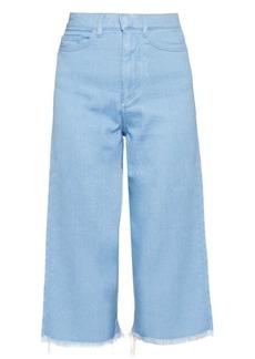 Marques' Almeida Marques'Almeida Frayed-edge wide-leg cropped jeans