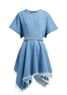 Marques' Almeida Marques'Almeida Handkerchief-hem belted denim mini dress