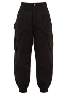 Marques' Almeida Marques'Almeida High-rise cropped denim cargo trousers