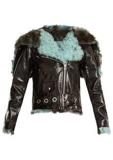 Marques' Almeida Marques'Almeida Hooded shearling-trimmed leather jacket