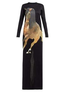 Marques' Almeida Marques'Almeida Horse-print jersey maxi dress