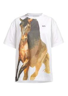 Marques' Almeida Marques'Almeida Horse-print jersey T-shirt