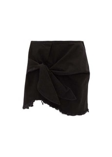 Marques' Almeida Marques'Almeida Knotted denim mini skirt