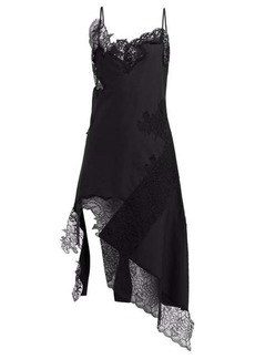 Marques' Almeida Marques'Almeida Lace-insert cotton dress