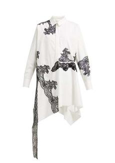Marques' Almeida Marques'Almeida Lace-insert cotton shirtdress
