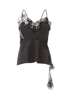Marques' Almeida Marques'Almeida Lace-trimmed cotton-poplin camisole top