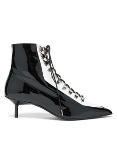 Marques' Almeida Marques'Almeida Lace-up patent-leather boots