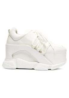Marques' Almeida Marques'Almeida Leather platform trainers
