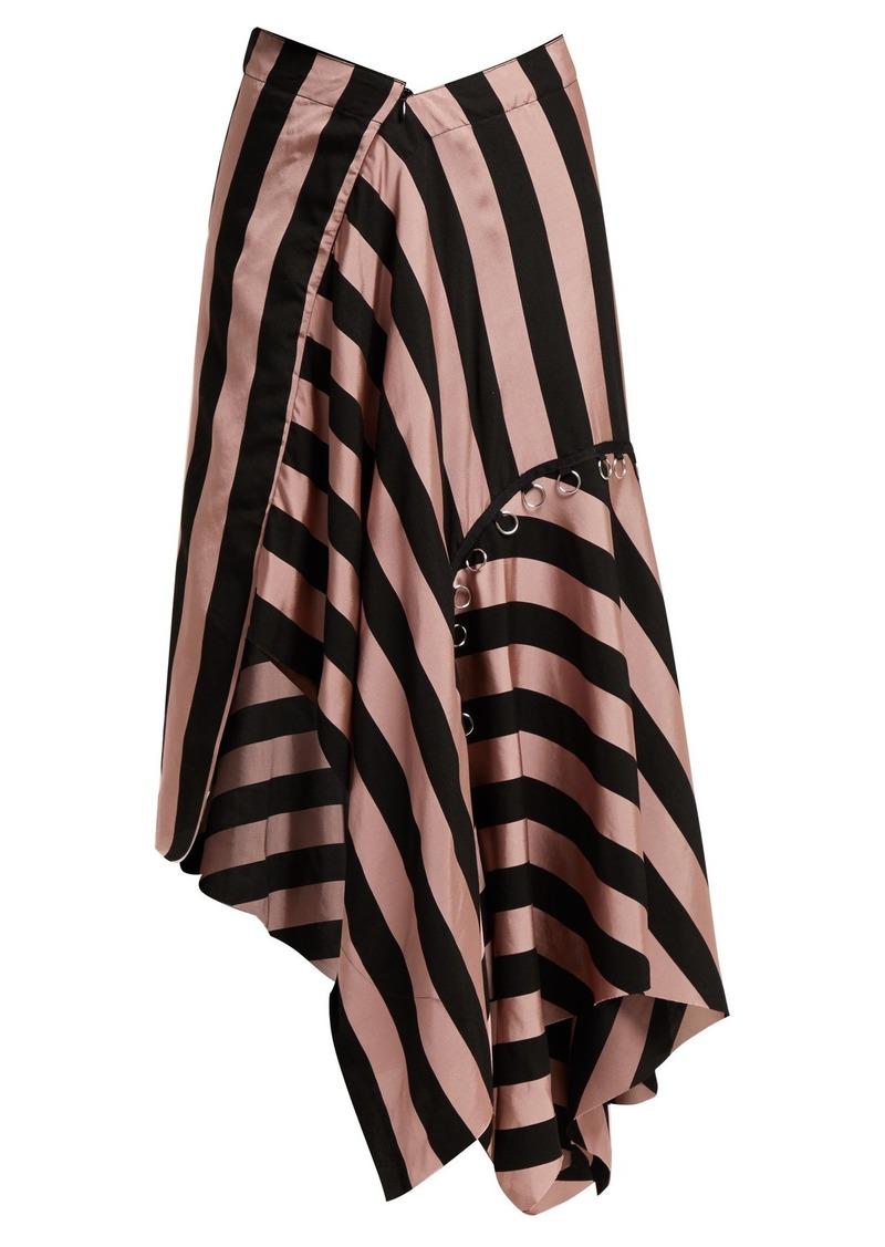 Marques'Almeida Loop-decorated asymmetric draped skirt