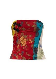 Marques' Almeida Marques'Almeida Patchwork upcycled floral-brocade corset
