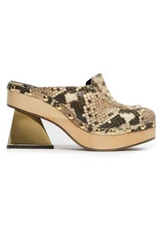 Marques' Almeida Marques'Almeida Python-effect leather clog mules