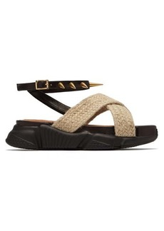 Marques' Almeida Marques'Almeida Raffia strapped platform sandals