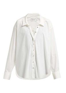 Marques' Almeida Marques'Almeida Ring-detail raw-hem cotton shirt
